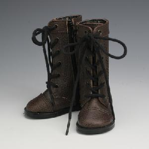 [50SH-F01A]Leather Boots Dark Brown
