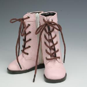 [50SH-F01A]Leather Boots Pink