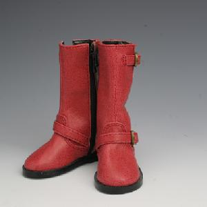 [50SH-F02C]Leather Engineer Boots Red