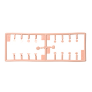 [60AC-FP001]Hole Caps Kit for Screw Holes White Skin Color