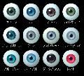 [EY20-G01]Glasstic Eyes 20mm Green